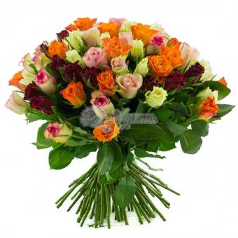 Букет из 75 розы Кения